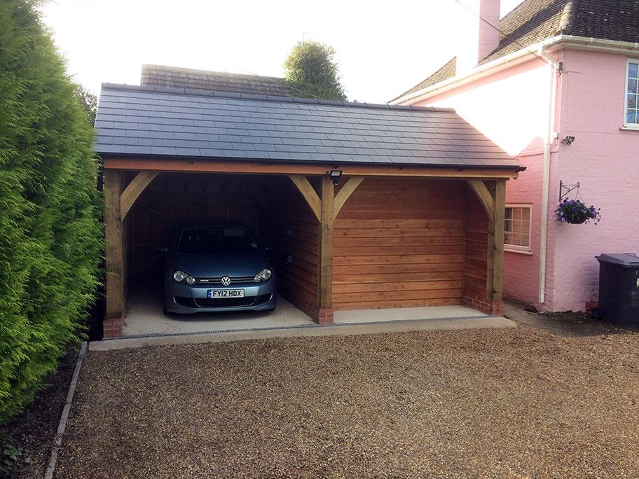 2 bay oak carport the traditional carpenters for 2 bay carport