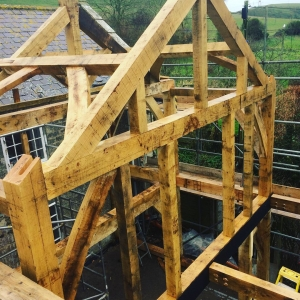 green oak timber frames